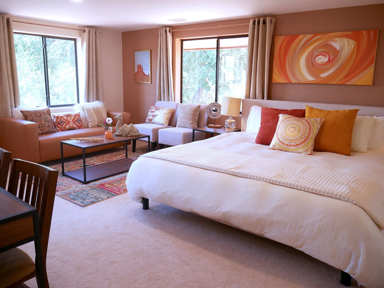Your comfy king bed and Sedona sanctuary!
