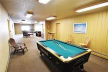 Community Rec Room with Pool Table