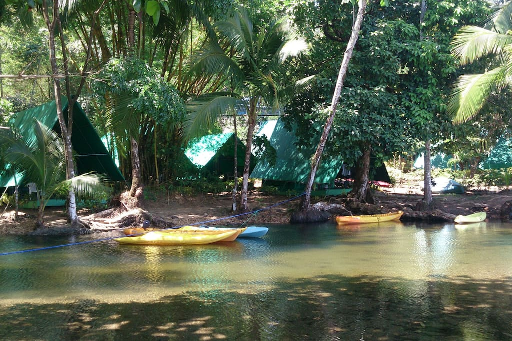 Lagoon in front of Camp