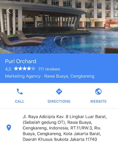 The Addres Apartement Puri Orchard