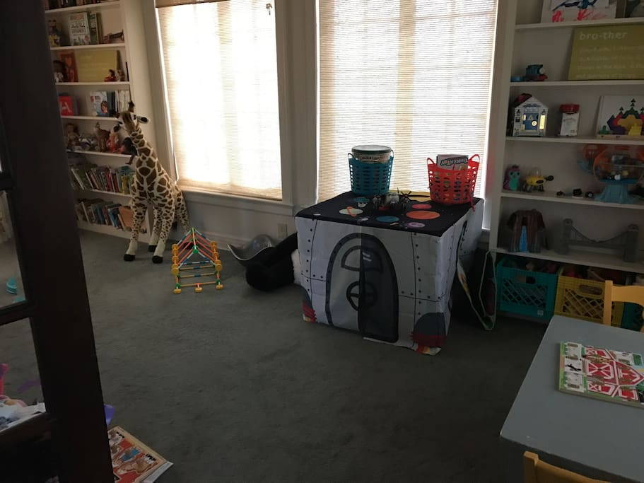 Playroom with room for an air mattress