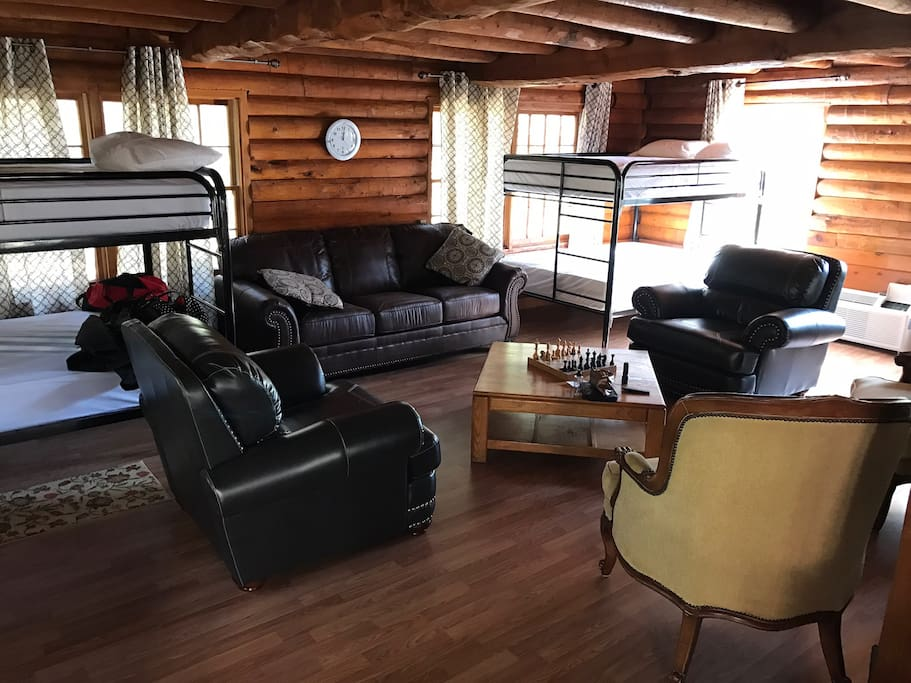 Full Size bunk beds in the living room