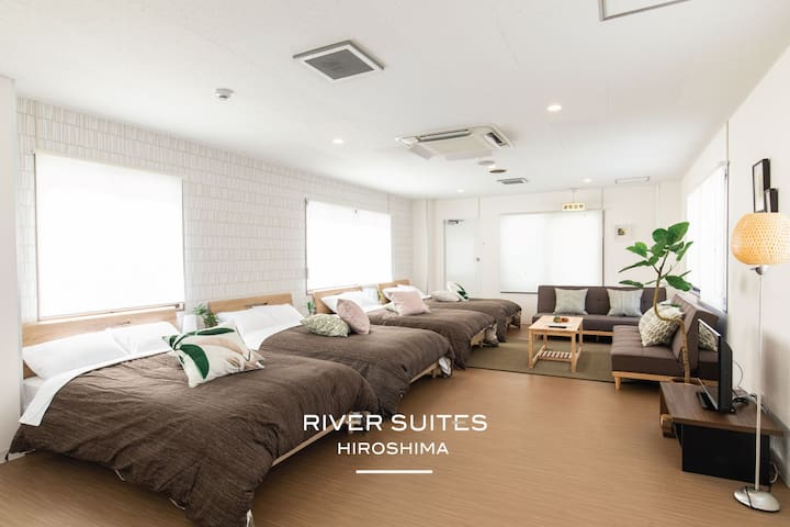 RIVER SUITE FOUR* Luxury Reform* 10p+Wifi* Rooftop