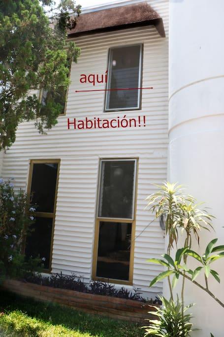 Habitación esta en el segundo piso