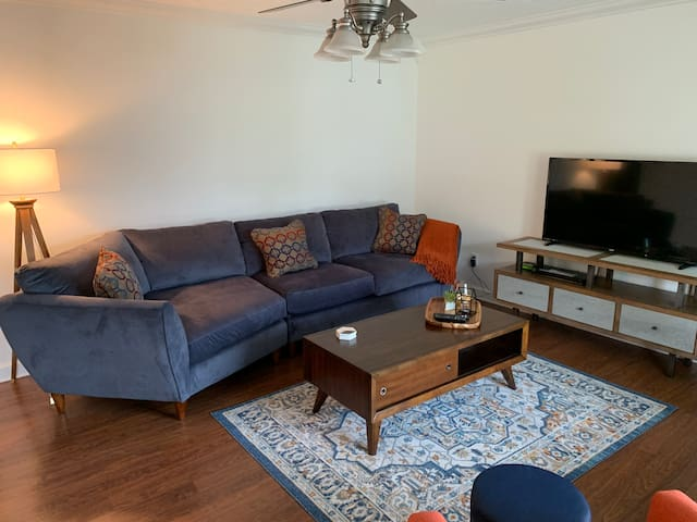 Cozy living room area, great for entertaining, unwinding, Netflix, & lazy afternoon naps!