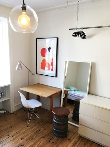 Charming room in trendy Vesterbro