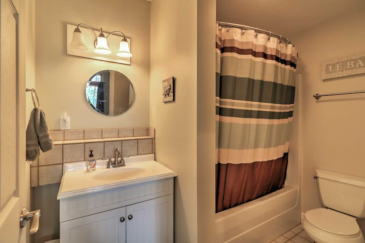 Freshen up after a busy day in this shower/tub combo.