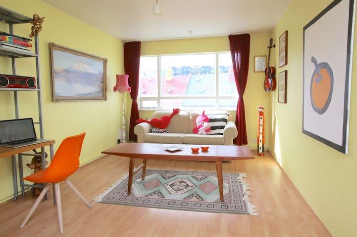 Artistic apartment in heart of Reykjavík