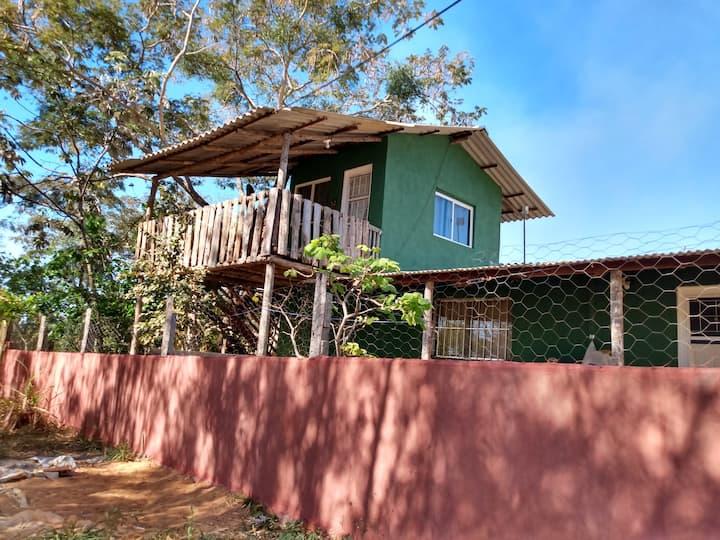 Casinha Pôr do Sol casa/piano4  e quarto/ árvore+2