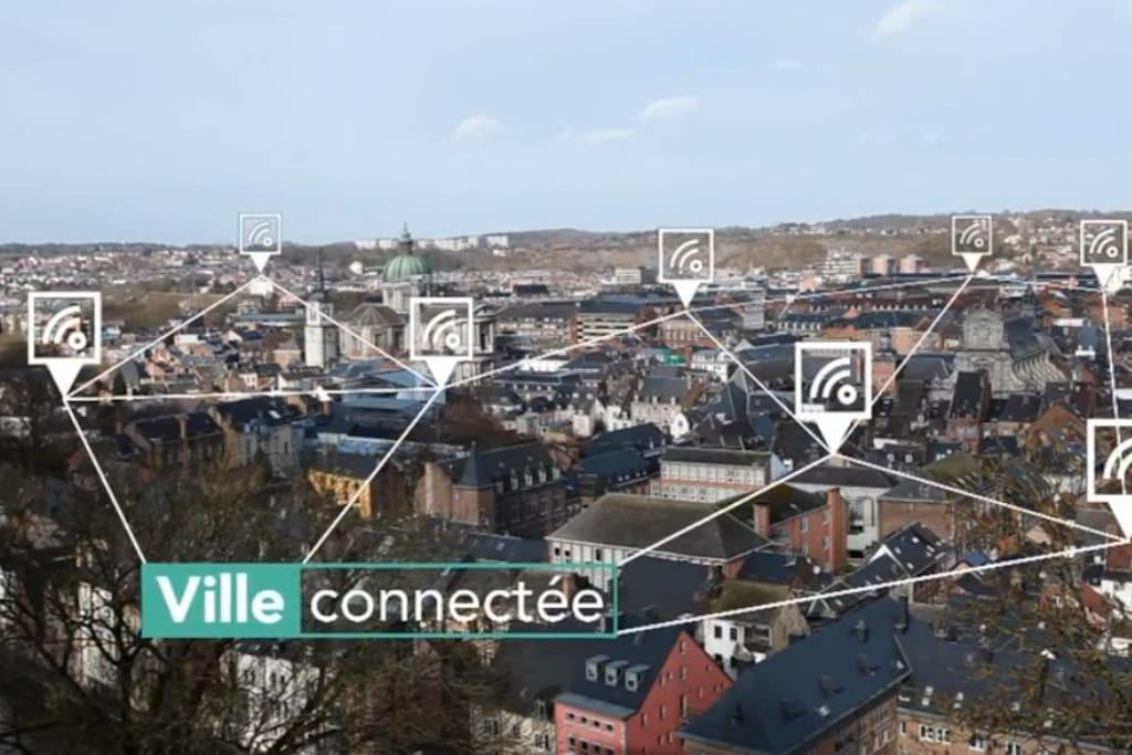 Namur est une ville connecté