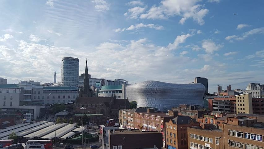 Double room in modern city centre apartment - Birmingham - Wohnung