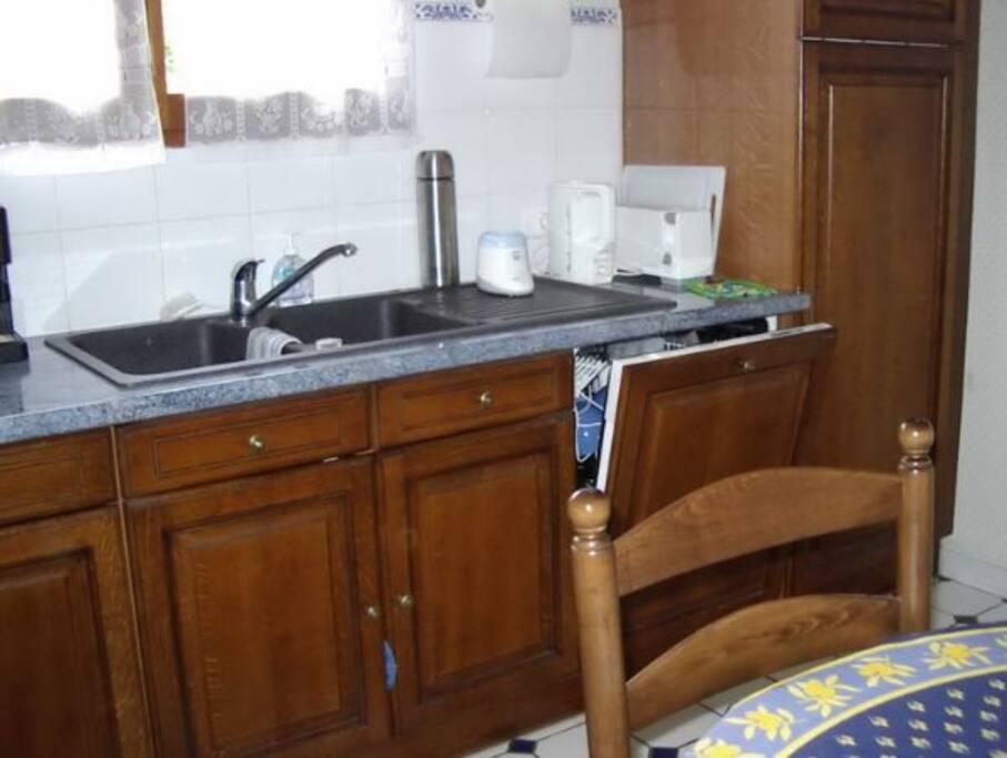 Cuisine : lave-vaisselle et frigo/congélateur
