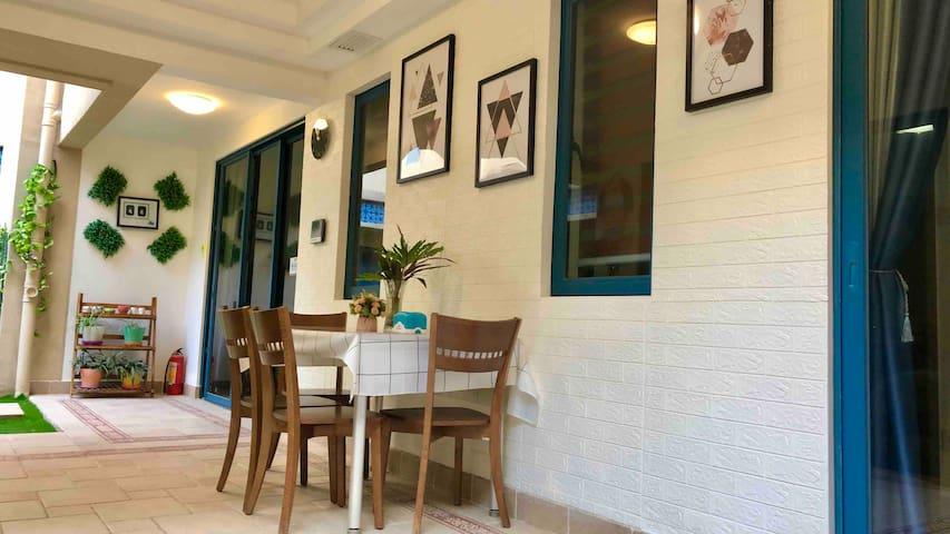 惠东双月湾·万科3房独立海边洋房别墅8-04(自动麻将、豪华烧烤桌)