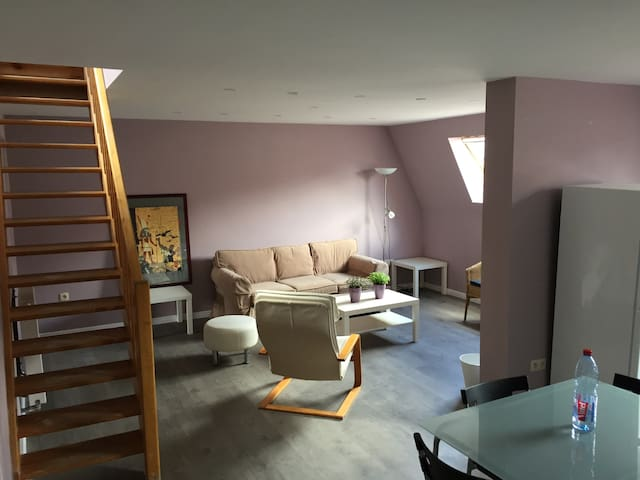Spacious Duplex in the centre - Schaerbeek - Apartemen