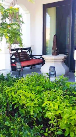 unit's private patio