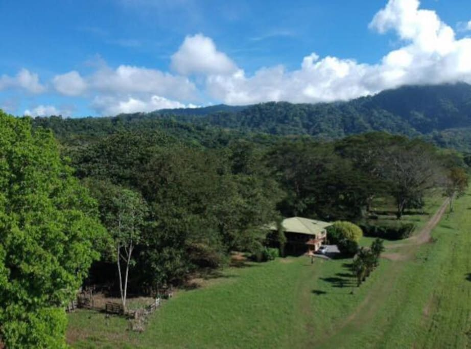 Casa Luna from above, natural surroundings