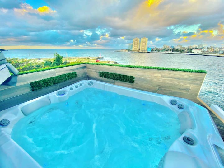 Luxury  Riviera (rooftop pool,Waterfront 3 jacuzzi