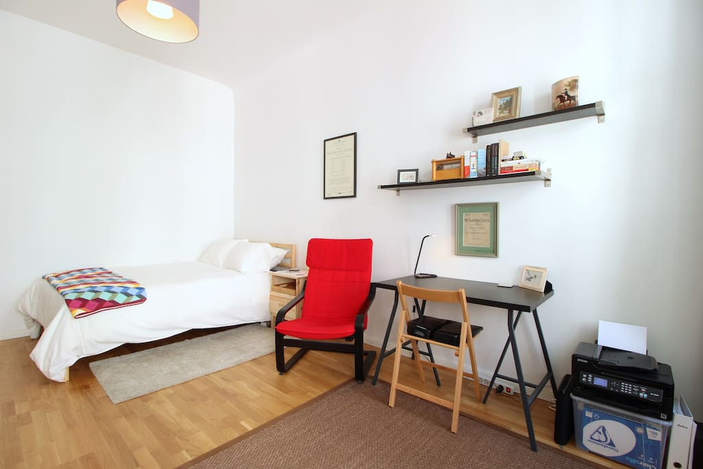 The double bed and the studio couch will be equipped with fresh bed linen and sheets for you.