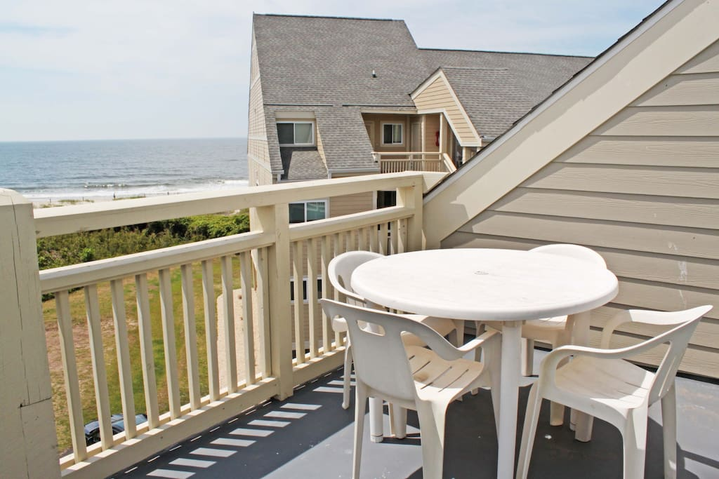 Enjoy the ocean view from your deck.