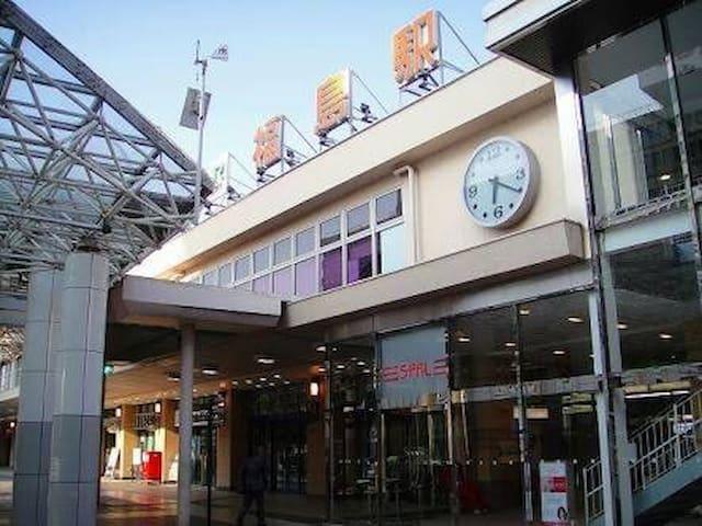 福島駅東口から徒歩10分繁華街の中にある隠れ家的アパート貸切できます♪ - 福島市 - Apartment