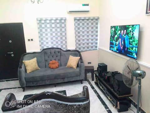 2 Bedroom luxury apartment with good power supply.