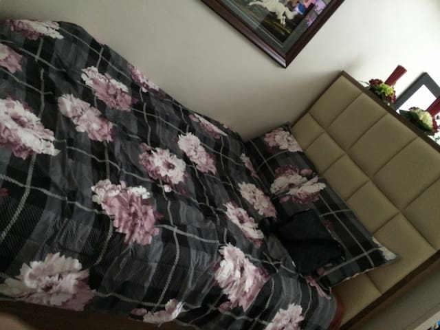 Double Bed with Mattress and Pillows