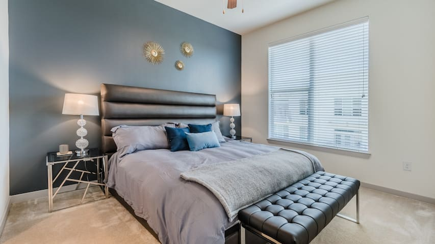 Enjoy this lux 2BD condo while working from home remotely