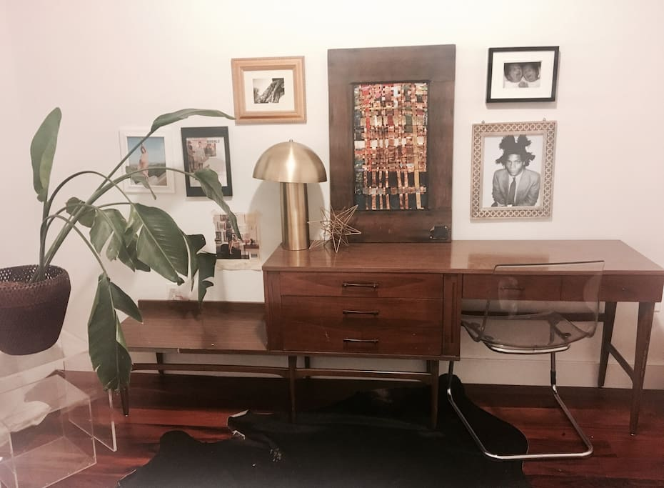 Empty mid century modern credenza for your storage needs