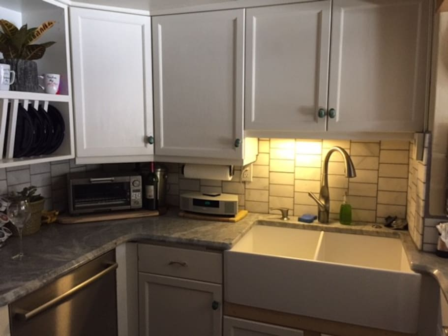 Kitchen with all new appliances and Keurig coffee maker