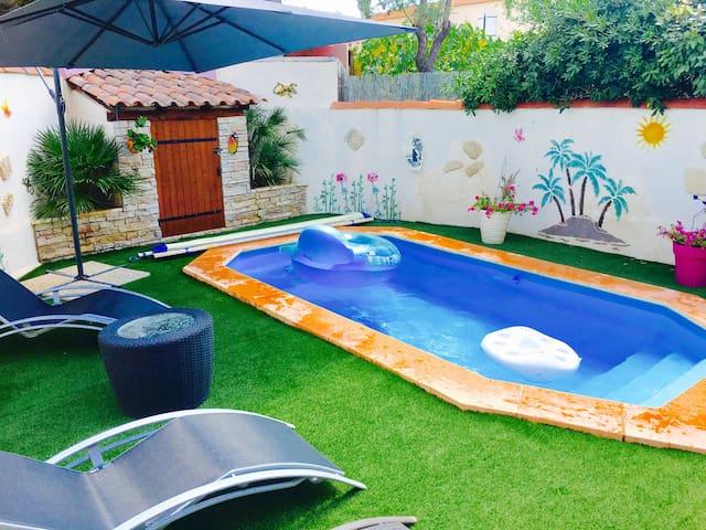 Maison 105m², Jardin et piscine, proche AIX en Pce - Simiane-Collongue