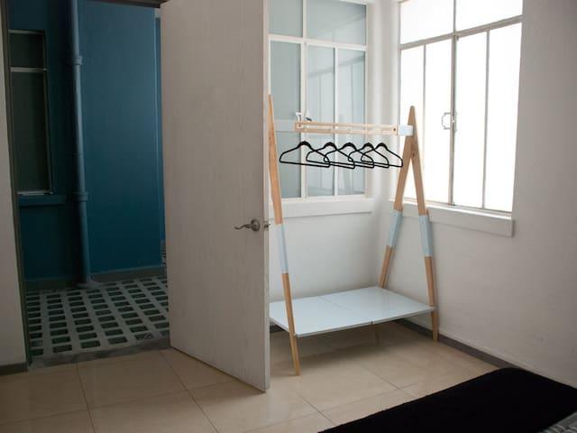 Open closet inside the bedroom
