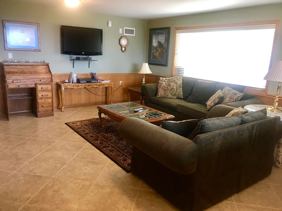 Ample space with cable TV included.