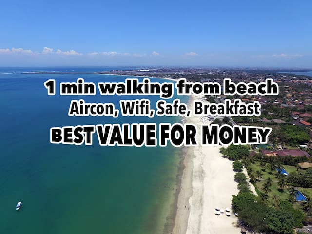 100M from Jimbaran Beach / Aircon, Wifi, Bfast - A - South Kuta - Bed & Breakfast
