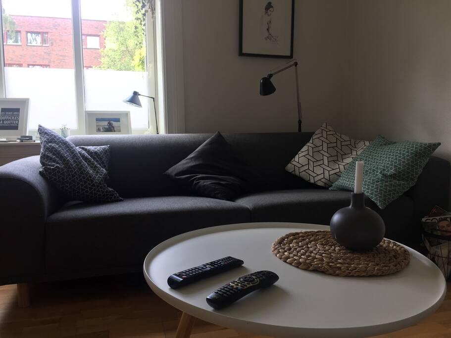 Sofa kan brukes som seng