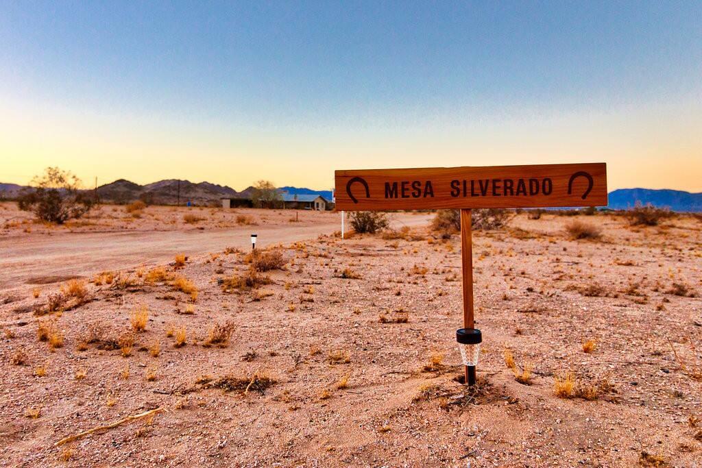 A private road leads to Mesa Silverado