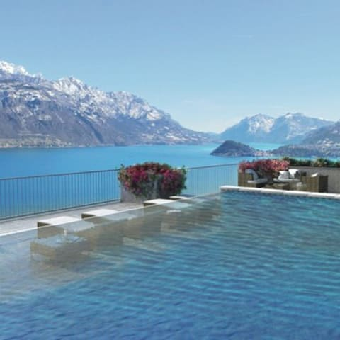 Amazing Lake Como/Bellagio View! W/Rooftop Pool!!