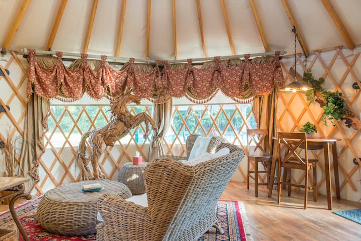 Yurt at Danvile, glamping at its best