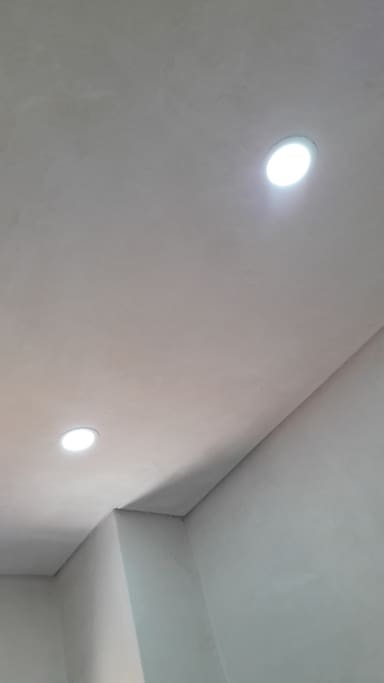 White cooling lighting to give off a simple stylish finish