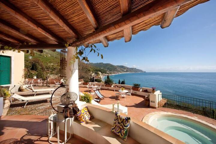 Seaview Villa In Taormina x 8 px