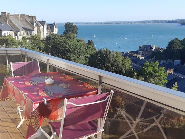 Appartement Terrasse Vue Mer à 180° sur la Baie