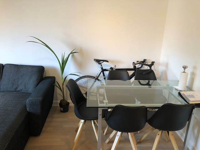 Cozy flat , 17 min to central. Lovely area