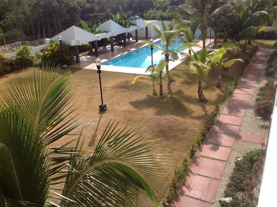 pool view from the balcony