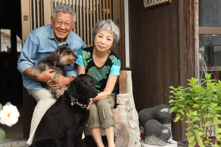 We are 67's couple and two lovely dogs.