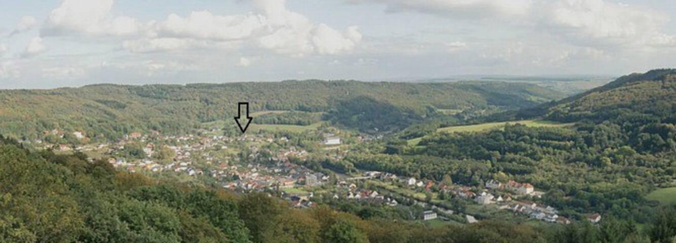 Große Ferienwohnung mit phantastischer Aussicht - Bollendorf - Apartament