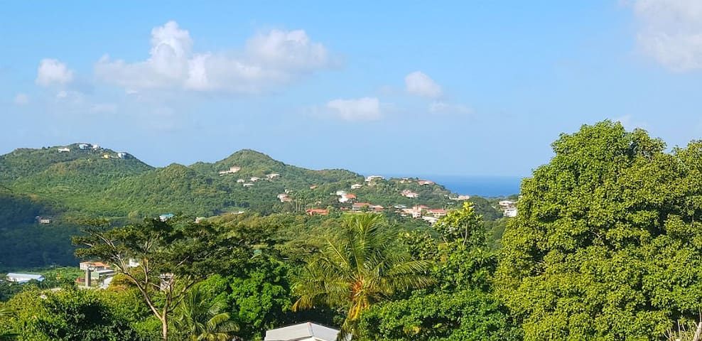 And breathe .... another view from Morne Jaloux Apartments.