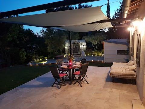 Le Mazet de l'Eveil,Avignon,calme,piscine,jacuzzi
