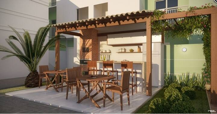 Apartamento mobiliado próximo a Praia do Morro ES
