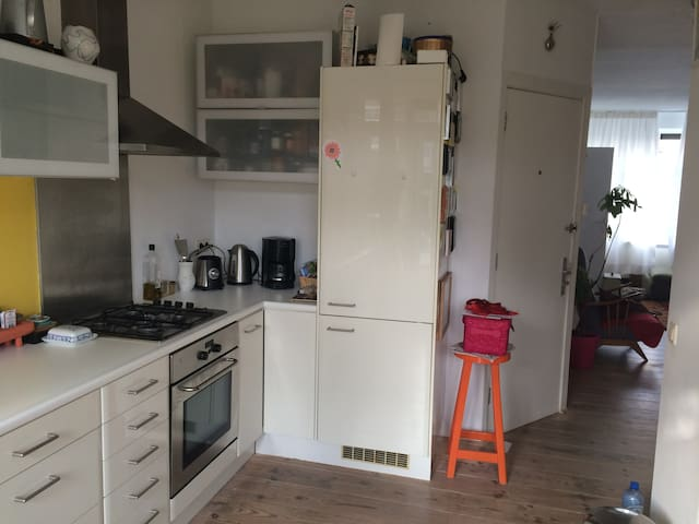 kitchen including dishwasher, coffee machine, water cooker and freezer.