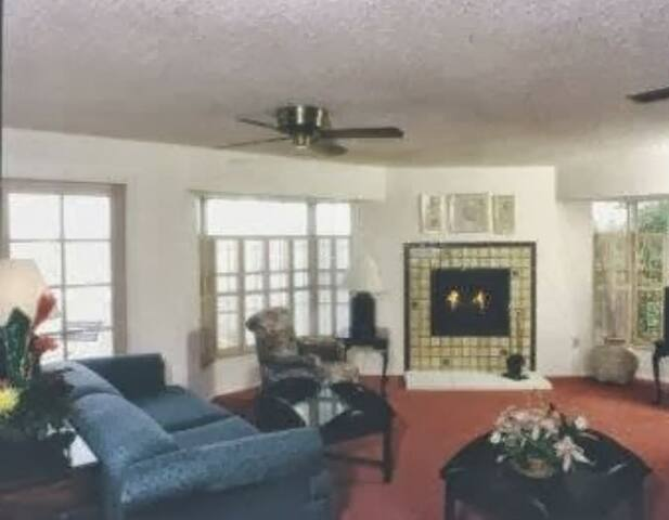 3 bedroom unit with fireplace, full kitchen, dining room and living room. Unit even has it's own washer and dryer as well as a fireplace