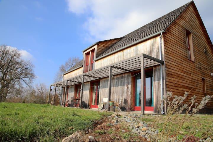 Maison ossature bois campagne creusoise